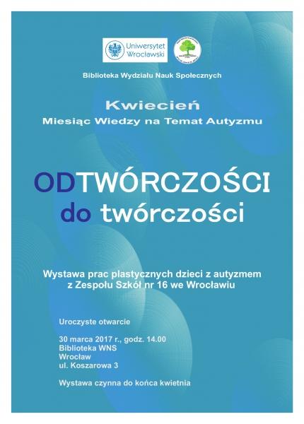 image: Kwiecień - Miesiąc Wiedzy na Temat Autyzmu - zaproszenie na wystawę...